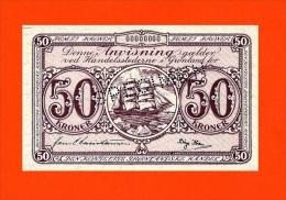 GREENLAND  50 Kroner ND (1953-67g). (R046) SPECIMEN-REPRODUCTION - Greenland