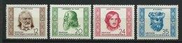 DDR-RDA - N° 63 à 66 - Célébrités Internationales - *