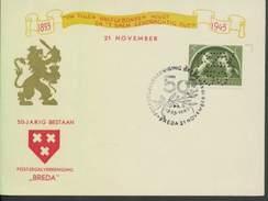 Niederlande # 411 LOCHUNG PZV Sonderkarte SSt. 21.11.43 Breda. IA-Sonderkarte Der Briefmarkenvereinigung.