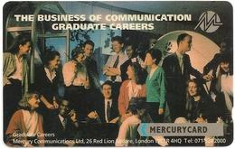 UK - Mercury - Graduate Careers (Reprint) - 20MERA - MER276 (No Letter B On Backside), 4.279ex, Mint No Blister - Reino Unido