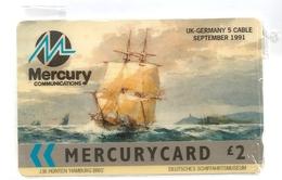 UK - Mercury - Hamburg Brig Ship - MER306 - 1.870ex, NSB - United Kingdom