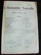 Revue Mars 1900 L' Humanité Nouvelle N°33 Revue Internationale Littéraire Politique Tendance Anarchiste -- GAR - Livres, BD, Revues