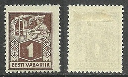 ESTLAND Estonia 1922 Michel 33 A Type II *
