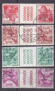 N°290b à 293b Type De 1934 Sur Papier Ordinaire Tête-bêche - Suisse