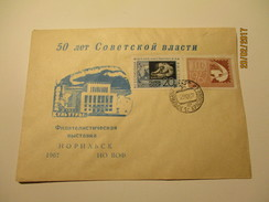 RUSSIA USSR  PHILATELY EXHIBITION 1967 NORILSK  ,   OLD COVER , 0