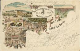 AK Reichenbach, Tonhalle, 2. Bezirksturnfest 6. Bezirk 4. Kreis Des Arbeiterturnerbundes 12.6.1904 (931) - Reichenbach I. Vogtl.
