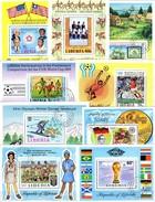 Topic Blocks Liberia 9 Bl.56,64,72,76,79,83-109 O 29€ Flagge Reiten Hoja Sport Blocs Soccer Sheets Scout Bf History