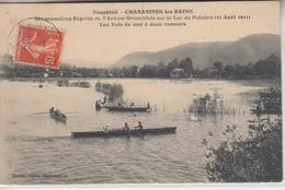 38 - CHARAVINES Les BAINS - Les Régates De L'Aviron Grenobloise Sur Le Lac De Paladru - Charavines
