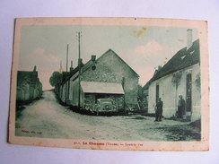 Carte Postale Ancienne 89  La Chaume Grande Rue - Aillant Sur Tholon