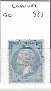 VIENNE - S/22 - 20c Napoleon III Bleu - Oblit  GC  983  (  Chaunai  ) - 1849-1876: Période Classique