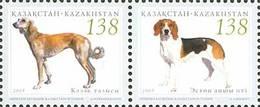 Kazakhstan 2005. Hunting Dogs. Mi.#515-516