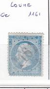 VIENNE - S/22 - 20c Napoleon III Bleu - Oblit  GC  1161  (  Couhe  ) - 1849-1876: Période Classique