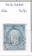 VIENNE - S/22 - 20c Napoleon III Bleu - Oblit  GC  2131  (  Lusignan  ) - 1849-1876: Période Classique