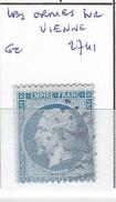 VIENNE - S/22 - 20c Napoleon III Bleu - Oblit  GC  2741  (  Les Ormes S/Vienne  ) - 1849-1876: Période Classique