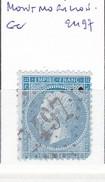 VIENNE - S/22 - 20c Napoleon III Bleu - Oblit  GC  2497  (  Montmorillon ) - 1849-1876: Période Classique