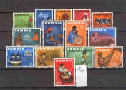 SAMBIA -   1/14  Freimarken 1964  Kpl.Ausg.m.Falz