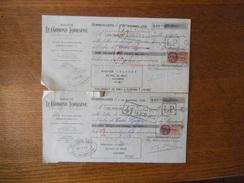 GENNEVILLIERS SOCIETE LE CARBONE-LORRAINE 37 A 41 RUE JEAN JAURES 2 TRAITES 1er NOVEMBRE ET 1er DECEMBRE 1938 TIMBRES FI - Frankreich