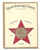 étiquette -  1900/20 - Grande Distillerie E De Bidu - Bordeaux - - Whisky