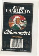 étiquette -  Rhum Ambré  - WILLIAM CHARLESTON  - - Rhum