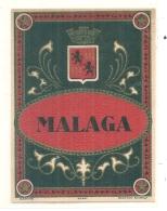 étiquette -  1900/1930 - MALAGA -belle étiquette Sur Papier Martelé - Rhum