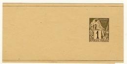 Colonie General, 1 C. Ganzsache - Zeitungsstreifband **,  D177