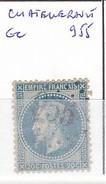 VIENNE - S/29 - 20c Napoleon III Lauré Bleu - Oblit   GC 955  (   Chatellerault ) - 1849-1876: Période Classique