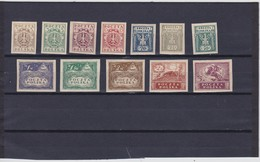 1919 Northern Poland Complete Eagle Set Mint Hinged, Michel 89/100, Scott 81/92, Yvert 147/58