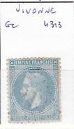 VIENNE - S/29 - 20c Napoleon III Lauré Bleu - Oblit   GC 987  (   Chauvigny ) - 1849-1876: Période Classique