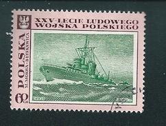 N°  1730 Bateau Navire L'Eclair Par M Mokwa  Timbre  Pologne Oblitéré/neuf   Polska 1968