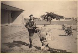 Photo Militaire Para Commando Au Congo Belge Avant Les Bagarres à Kamina - Guerre, Militaire