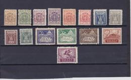 1919-20 Northern Poland Complete Eagle Set Mint Hinged,  Scott 93/108, Yvert 159/71