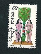 N°  1825 Adam Et Eve Timbre  Pologne Oblitéré/neuf   Polska 1969