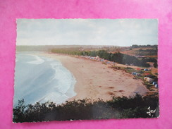 CPA PHOTO 29 LOCQUIREC GRANDE PLAGE ET SON CAMPING - Locquirec