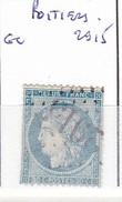 VIENNE - S/37 - 20c Cérés Bleu - Oblit   GC 2915  (   Poitiers ) - 1849-1876: Période Classique