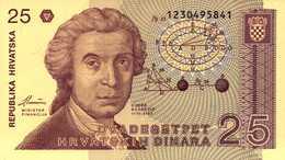 CROATIE 25-100 DINARA Du 8-1-1991 Pick   19a Et 20a  UNC/NEUF - Croatie