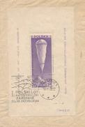 ZAKOPANE - 19.IX.39 , Erster Polnischer Stratosphärenflug - WARSZAWA  25.X.38 - Ballong-Beleg - Covers & Documents