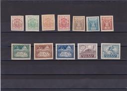 1919 Southern Poland Complete Eagle Set Mint Hinged, Michel 65/76  Scott 109/21, Yvert 172/83