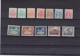 1919 Southern Poland Complete Eagle Set Mint Hinged, Michel 77/88  Scott 121/32, Yvert 184/95