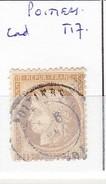 VIENNE - S/55 - 15c Cérés Bistre - Oblit   CAD  T17  (   Poitiers ) - 1849-1876: Période Classique