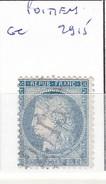 VIENNE - S/60 - 25c Cérés Bleu - Oblit   GC  2915  (   Poitiers  ) - 1849-1876: Période Classique