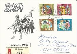 WI 294-297, Pro Juventute, Contes, Hänsel Und Gretel, Blanche Neige, Chaperon Rouge, Cendrillon, Recommandé