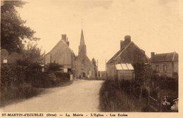 St Martin D'Ecublei, La Mairie, L'église Et Les écoles - Altri Comuni