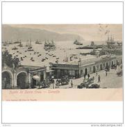 SCDTTPA1250CPA-LFTD395TABU.Tarjeta Postal DE TENERIFE.Edificios,animales,BURROS,barcos,veleros En PUERTO DE SANTA CRUZ - Burros