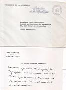 Lettre De La Présidence De La République - Texte Du Doyen Charles Debbasch - Cachet Présidence République    (95396) - Anuncios