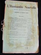 Revue Février 1899 L' Humanité Nouvelle N° 20 Revue Internationale Littéraire Politique Tendance Anarchiste -- GAR - Livres, BD, Revues