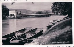 Aarau, Aare Mit Kettenbrücke, Barque (11140)