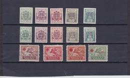 1919-21 Semi Postal Stamps Complete Mint Hinged, Michel 118B/22B, 118A/22A, 154/57,  Scott B1/14   , Yv.196/205,231/34