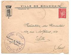 PETAIN SUR LETTRE A EN TETE DE BOUCHAIN (NORD) 1942 - 1921-1960: Periodo Moderno