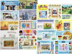 Blocks Liberia 19 Bl.17,56,64,72,76,79,83-109 O 60€ Flagge Kunst Ss Hoja Sport Blocs Soccer Sheets Scout Bf History