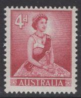 AUSTRALIA SG313 1959 4d CARMINE LAKE MNH